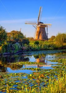 Windmill in Holland, Kinderdijk, Netherlands - GlobePhotos - royalty free stock images