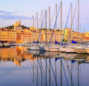 Yachts in the Old Port of Marseilles, France - GlobePhotos - royalty free stock images