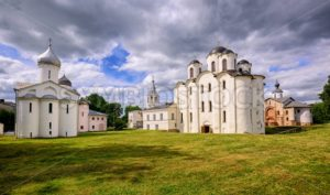 Historical russian orthodox churches ensamble in Novgorod, Russia - GlobePhotos - royalty free stock images
