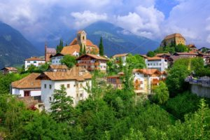 Alpine village Schenna, Meran, South Tyrol, Italy - GlobePhotos - royalty free stock images