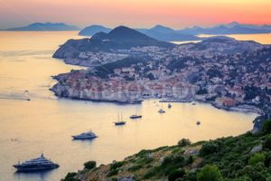 Old town of Dubrovnik on sunset, Croatia - GlobePhotos - royalty free stock images