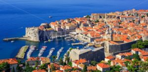 The historical old town port of Dubrovnik, Croatia - GlobePhotos - royalty free stock images