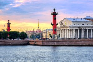 Cityscape of St Petersburg, Russia, on sunset - GlobePhotos - royalty free stock images
