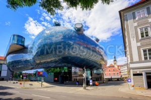 Kunsthaus center in Graz, Austria - GlobePhotos - royalty free stock images