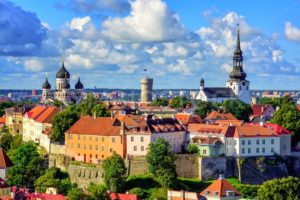 Medieval old town of Tallinn, Estonia - GlobePhotos - royalty free stock images