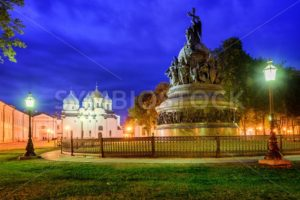 Millennium Monument and St Sophia Cathedral, Novgorod, Russia - GlobePhotos - royalty free stock images