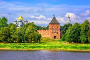 Novgorod Kremlin walls and churches, Russia - GlobePhotos - royalty free stock images