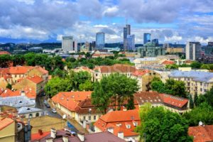 Old town and modern center of Vilnius, Lithuania - GlobePhotos - royalty free stock images