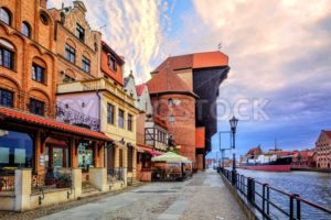 Old town of Gdansk, Poland, on sunrise - GlobePhotos - royalty free stock images