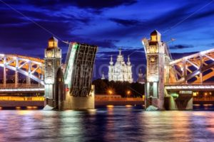 Peter the Great Bridge, St Petersburg, Russia - GlobePhotos - royalty free stock images
