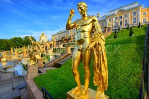 Peterhof garden, St Petersburg, Russia - GlobePhotos - royalty free stock images