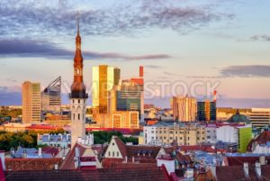 Skyline of Tallinn, the capital city of Estonia - GlobePhotos - royalty free stock images