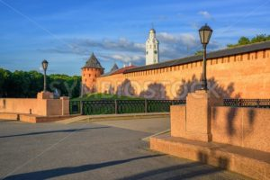 The Velikiy Novgorod Kremlin walls and towers, Russia - GlobePhotos - royalty free stock images