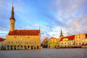 Town Hall Square in the old Town of Tallinn, Estonia - GlobePhotos - royalty free stock images
