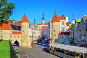 Viru Gate in the old town of Tallinn, Estonia - GlobePhotos - royalty free stock images