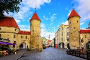 Viru Gate, old town of Tallinn, Estonia - GlobePhotos - royalty free stock images