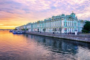 Winter Palace on Neva river, St Petersburg, Russia - GlobePhotos - royalty free stock images