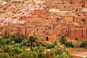Ait Benhaddou clay kasbah town, Morocco - GlobePhotos - royalty free stock images