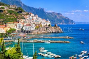 Amalfi town in southern Italy near Naples - GlobePhotos - royalty free stock images