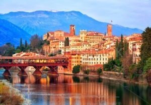 Bassano del Grappa town in the Alps mountains, Italy - GlobePhotos - royalty free stock images