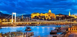Buda Castle over Danube river, Budapest, Hungary - GlobePhotos - royalty free stock images