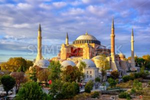 Hagia Sophia domes and minarets, Istanbul, Turkey - GlobePhotos - royalty free stock images