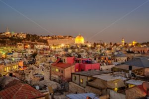 Old City of Jerusalem and Temple Mount, Israel - GlobePhotos - royalty free stock images