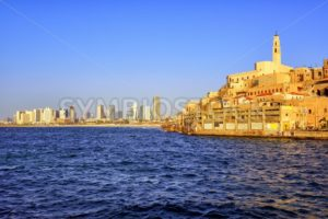 Old Jaffa town and Tel Aviv skyline, Israel - GlobePhotos - royalty free stock images
