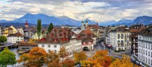 Panoramic view of Lucerne old town, Switzerland - GlobePhotos - royalty free stock images