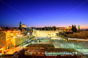 The Western Wall and Temple Mount, Jerusalem, Israel - GlobePhotos - royalty free stock images