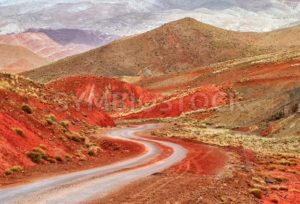 Winding road in Atlas mountains, Morocco - GlobePhotos - royalty free stock images