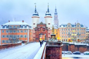 Baroque old town of Heidelberg, Germany, in winter - GlobePhotos - royalty free stock images