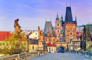Charles Bridge in Prague old town, Czech Republic - GlobePhotos - royalty free stock images