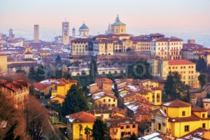 Old town of Bergamo, Lombardy, Italy - GlobePhotos - royalty free stock images