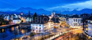 Old town of Lucerne, Switzerland, at evening - GlobePhotos - royalty free stock images
