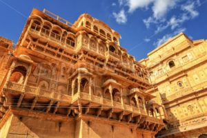 Stone carved house in Jaisalmer, Rajasthan, India - GlobePhotos - royalty free stock images