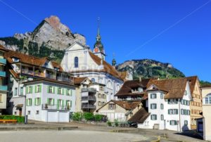 The little town of Schwyz in central Switzerland - GlobePhotos - royalty free stock images