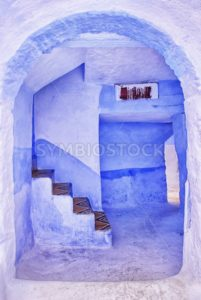 Traditional blue painted house in Chaouen, Morocco - GlobePhotos - royalty free stock images