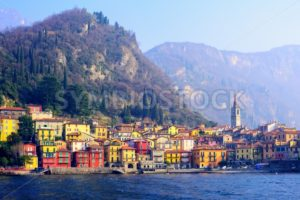 Varenna town on Lake Como, Lombardy, Italy - GlobePhotos - royalty free stock images