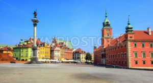 Colorful houses in the historic centre of Warsaw, Poland - GlobePhotos - royalty free stock images