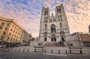 Gothic style Cathedral of Brussels, Belgium - GlobePhotos - royalty free stock images