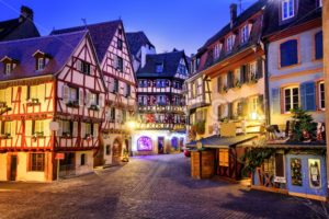 Old town of Colmar decorated for christmas, Alsace, France - GlobePhotos - royalty free stock images