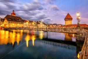 Old town of Lucerne, Switzerland, in the evening light - GlobePhotos - royalty free stock images