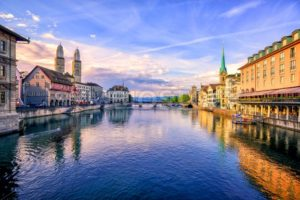 Old town of Zurich on sunrise, Switzerland - GlobePhotos - royalty free stock images