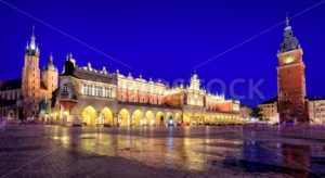 Panoramic view of Krakow Old Town Main Square, Poland - GlobePhotos - royalty free stock images