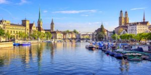 Panoramic view of the old town of Zurich, Switzerland - GlobePhotos - royalty free stock images