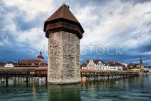 Water Tower in the old town of Lucerne, Switzerland - GlobePhotos - royalty free stock images