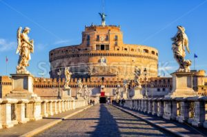 Castel Sant'Angelo, Mausoleum of Hadrian, Rome, Italy - GlobePhotos - royalty free stock images