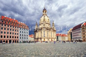 Frauenkirche Church in the old town of Dresden, Germany - GlobePhotos - royalty free stock images