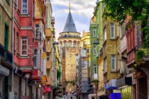 Galata Tower in the Old Town of Istanbul, Turkey - GlobePhotos - royalty free stock images